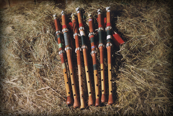 Traditional Fula flutes from Guinea, West Africa